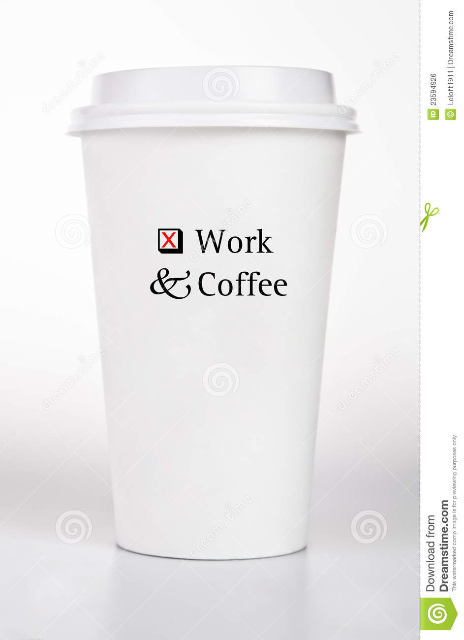 White Coffee Cup To Go