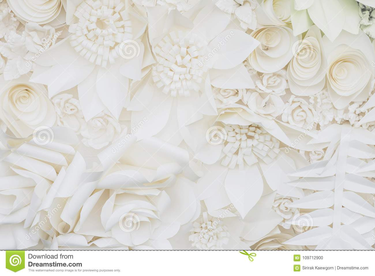White Paper Flower Design Background Stock Photo Image Of Holiday