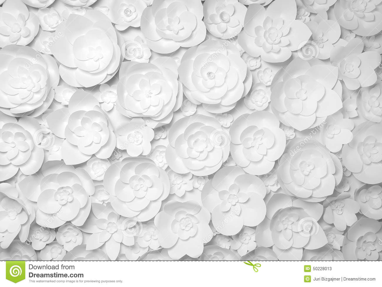 White Paper Flowers Stock Image Image Of Concepts Service 50228013