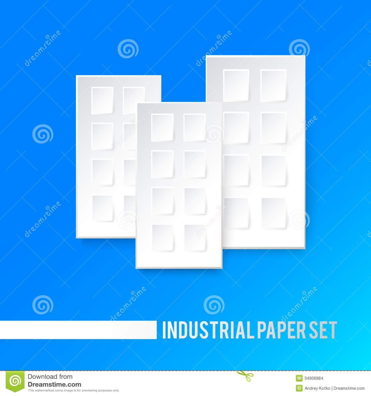 white paper icon of house stock vector illustration of card 34906884