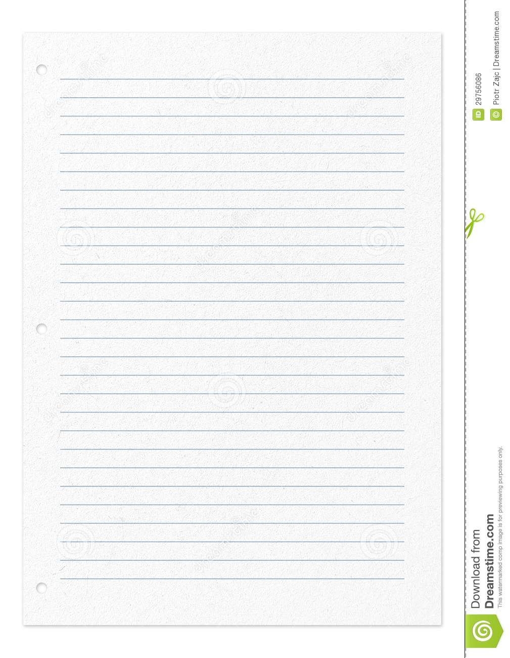 Photo Page: Line Pattern Page Of Paper Isolated On White Stock Photo