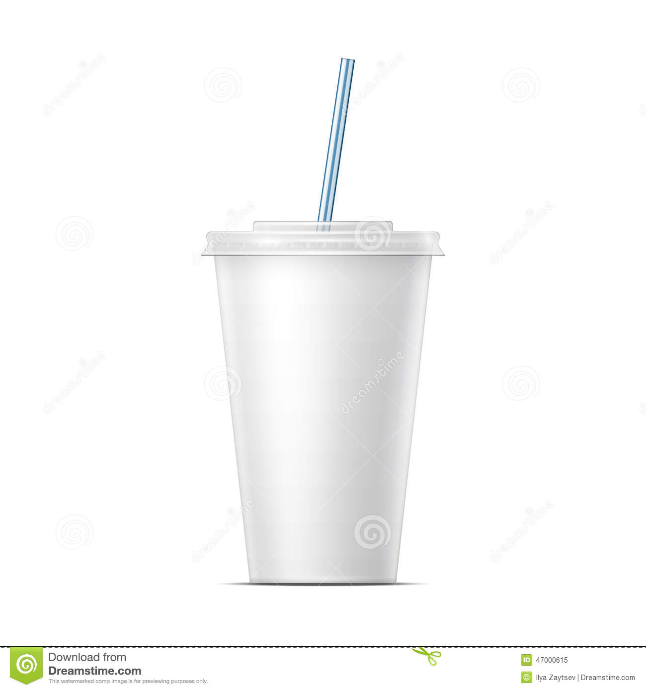 White Paper Soda Cup Template Stock Vector Image 47000615