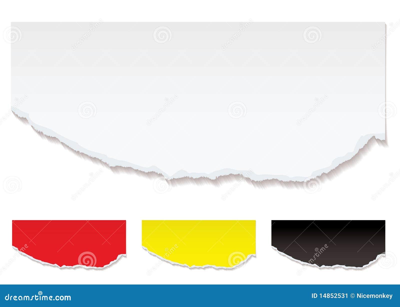 White paper torn edge