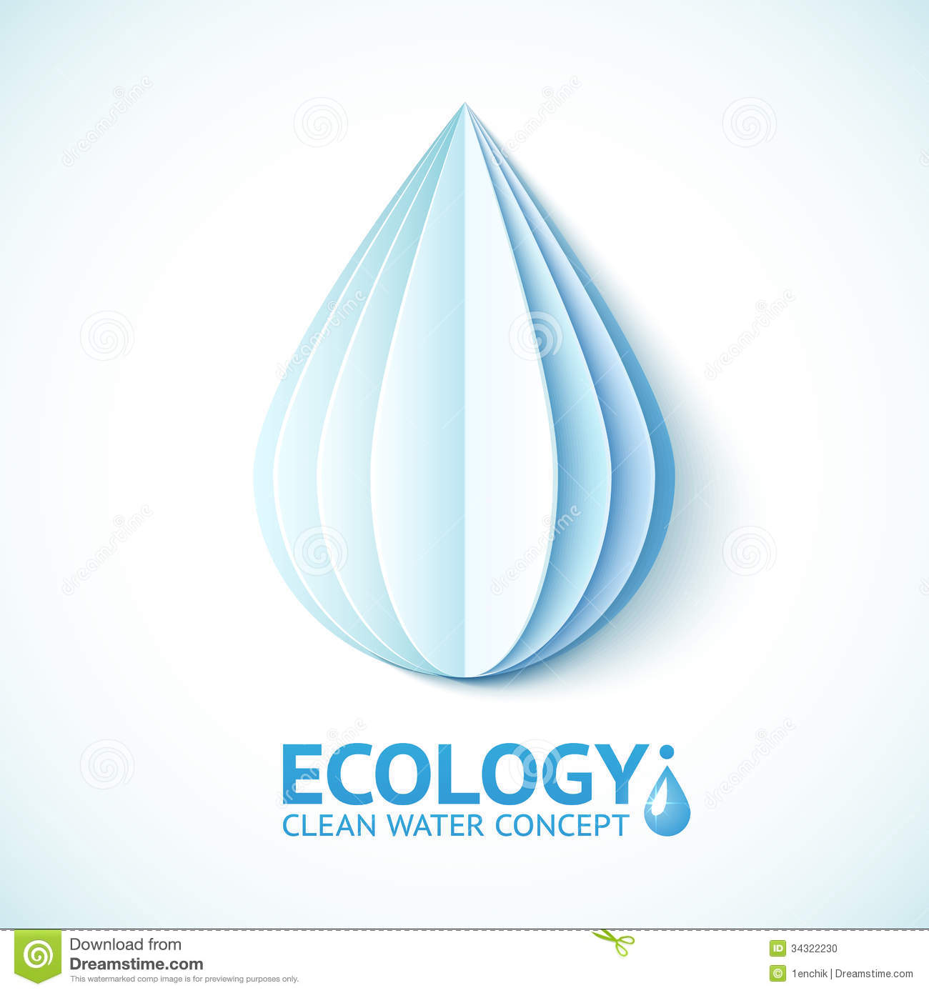 White Paper Water Drop In Origami Style Stock Illustration ... - photo#4