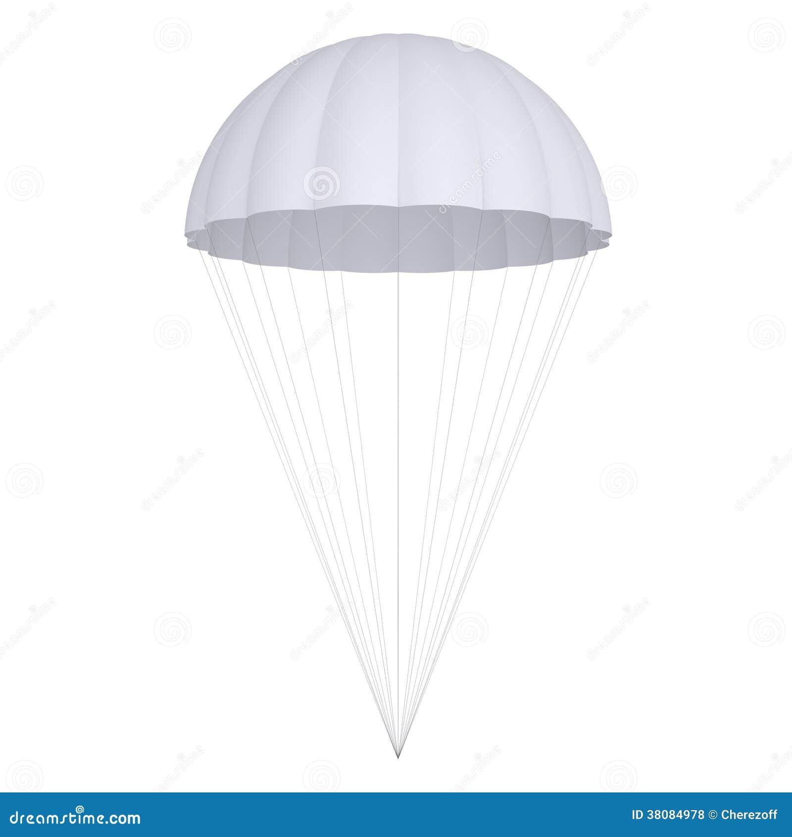 White Parachute Royalty Free Stock Photos Image 38084978