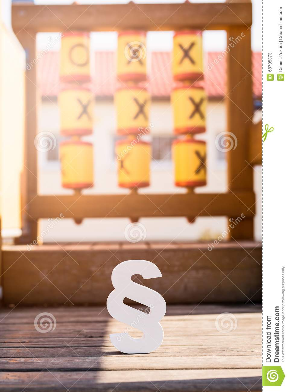 White Paragraph Symbol On Children Playground Stock Image Image