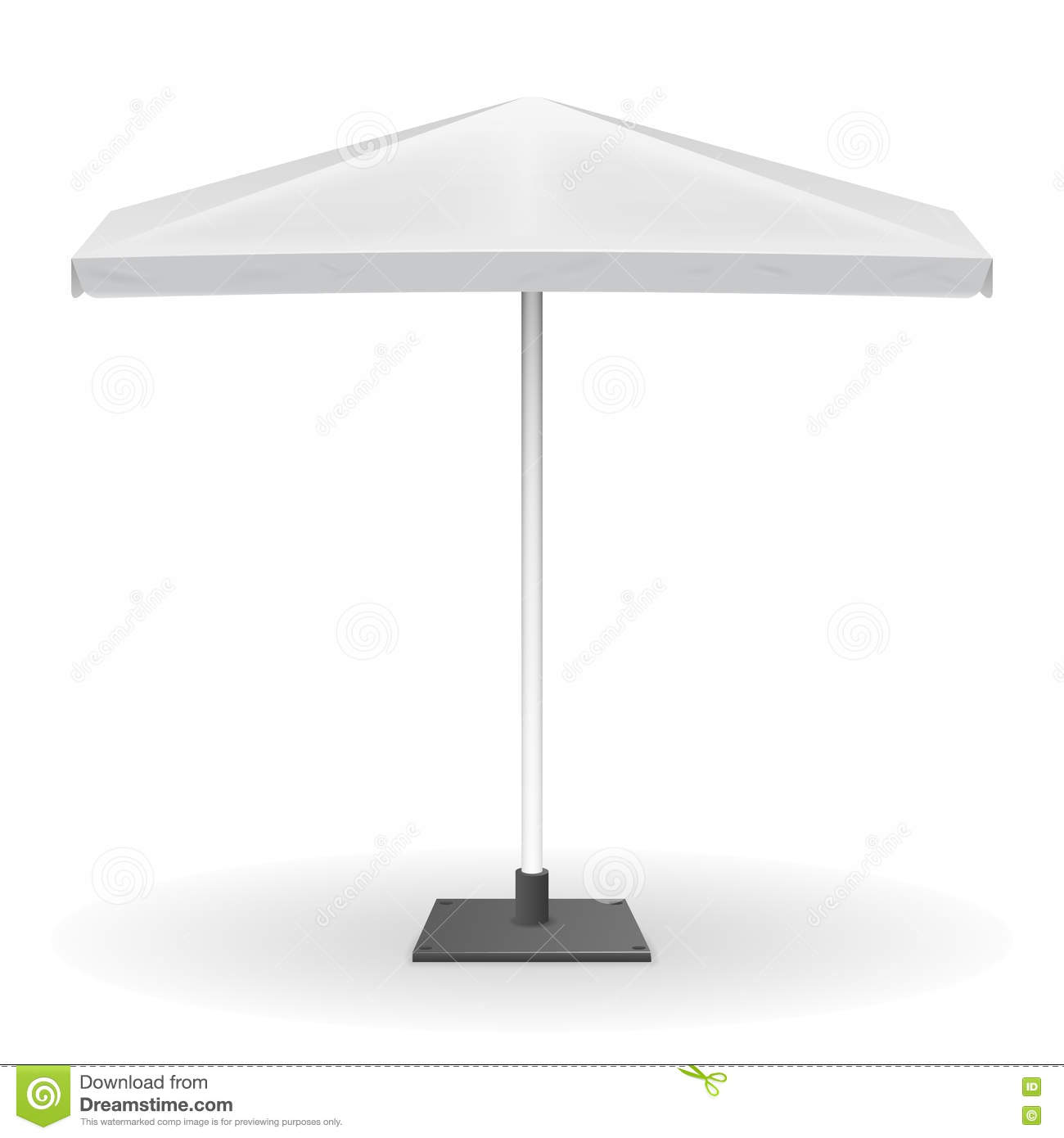 White Parasol Or Vector Promo Umbrella On Background Stock Vector