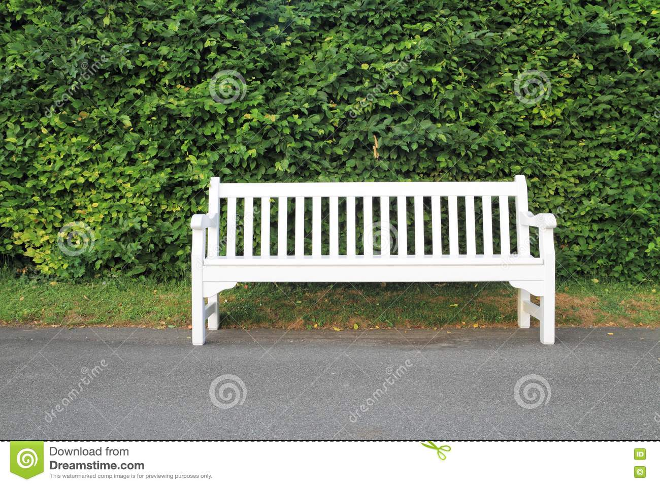 White Park Bench Royalty Free Stock Photo Image 20148025