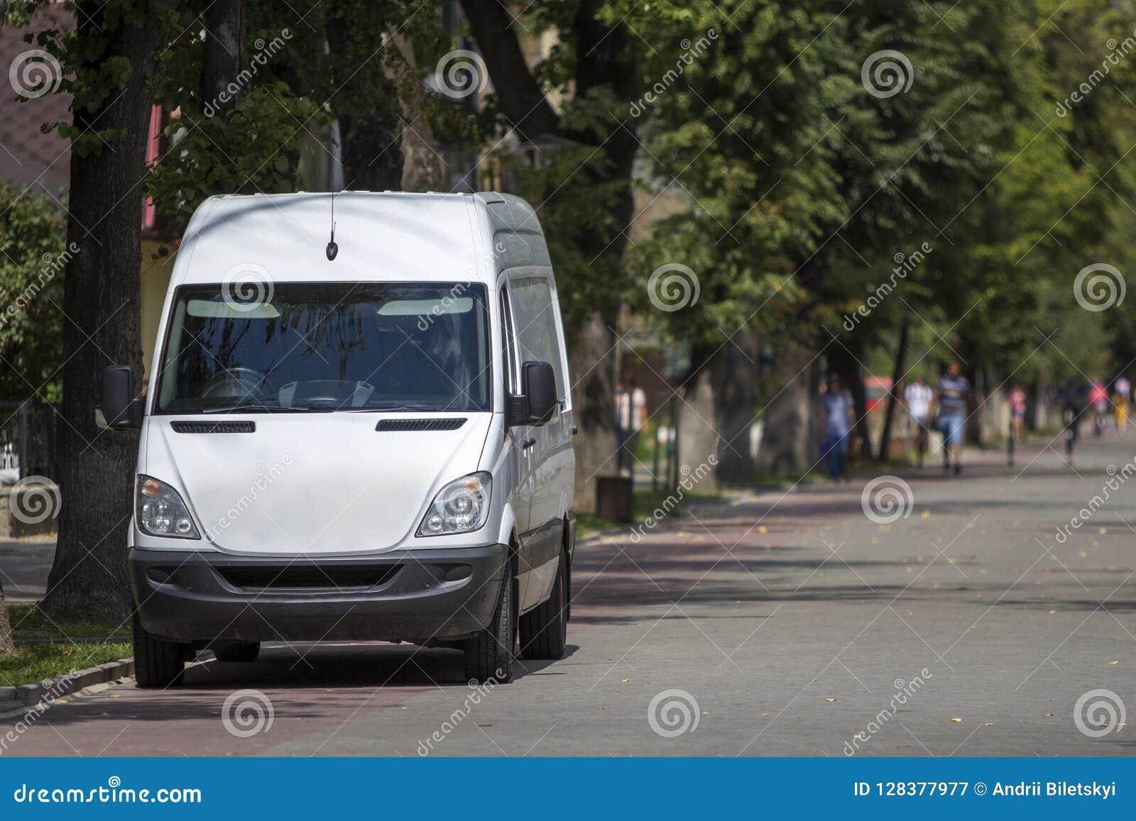 a47ab5b9e0 White Passenger Medium Size Commercial German Luxury Minibus. Stock ...