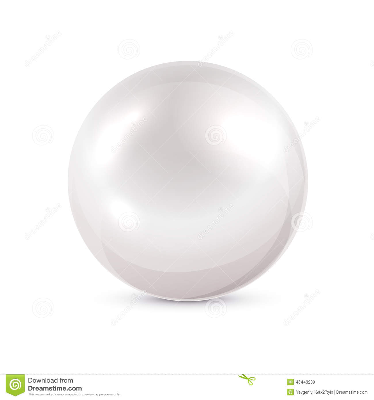 White pearl stock vector image 46443289 for White pearl