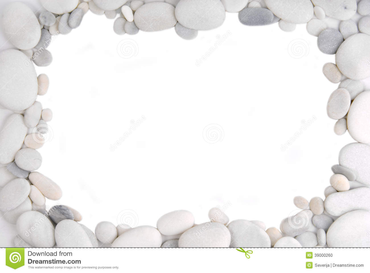 White Pebble Stone Frame Border Stock Photo - Image: 39000260