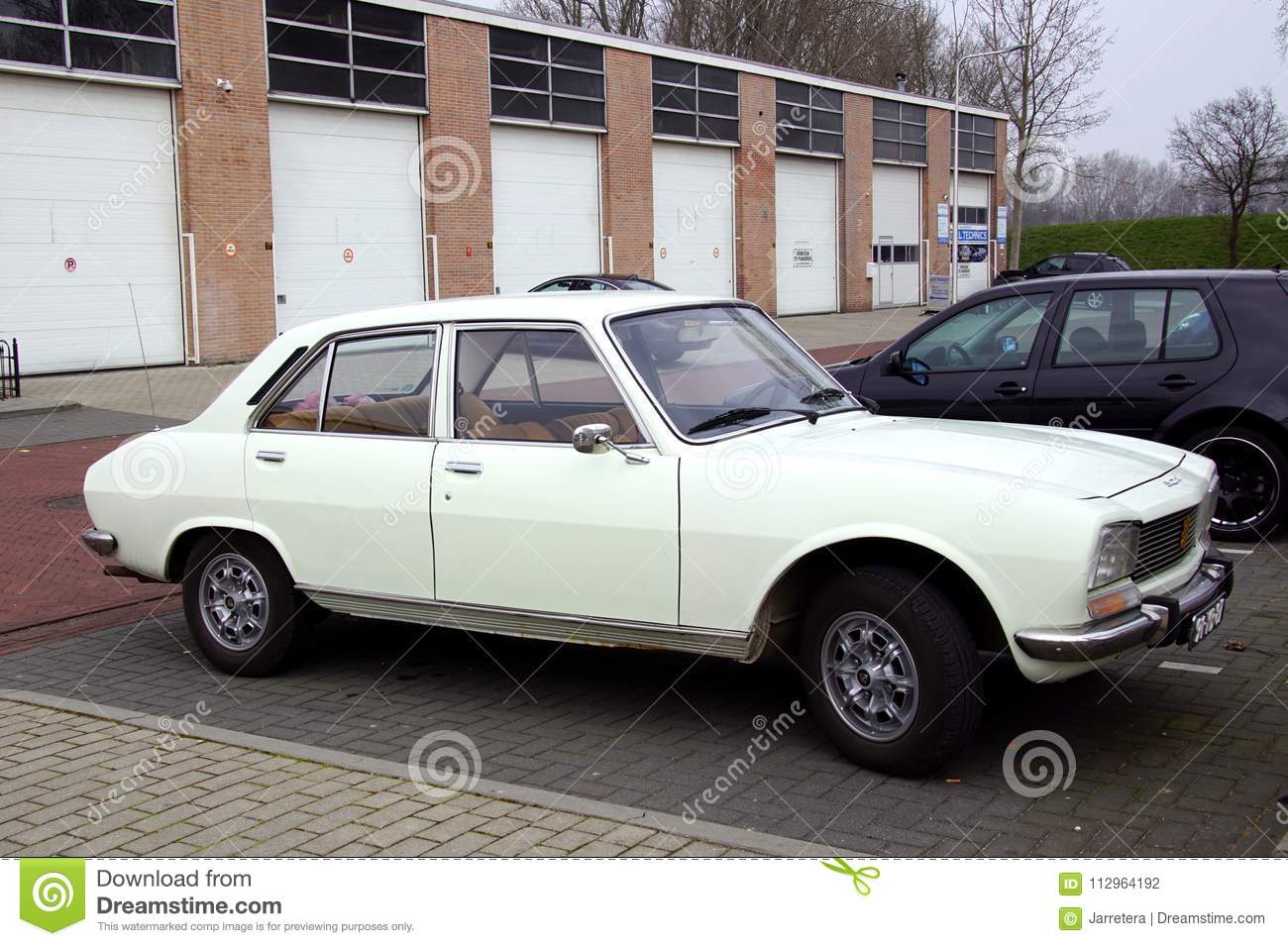 White Peugeot 504 Editorial Photography Image Of Street 112964192