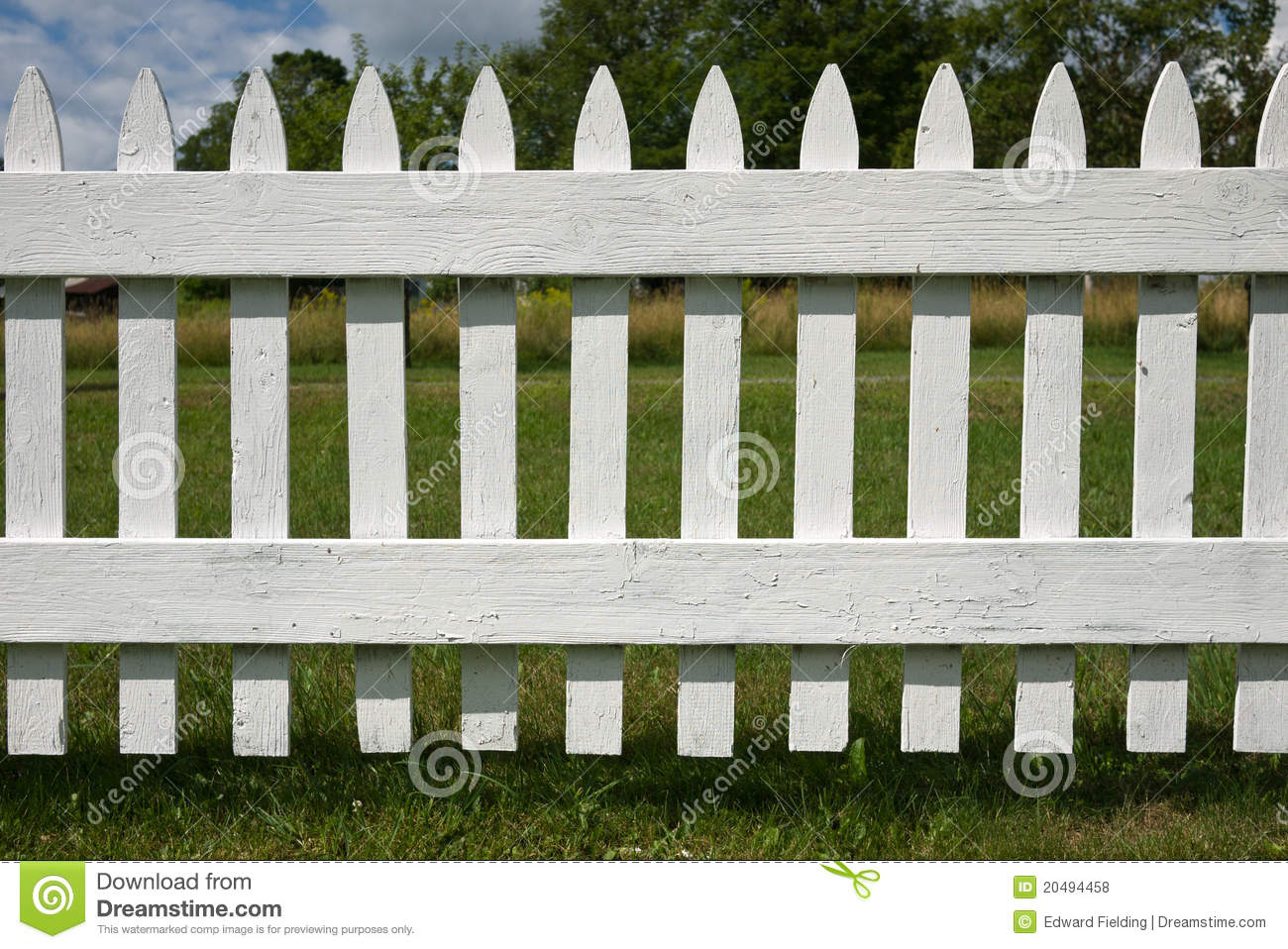 White Picket Fence Stock Photo Image Of Barrier Front 20494458