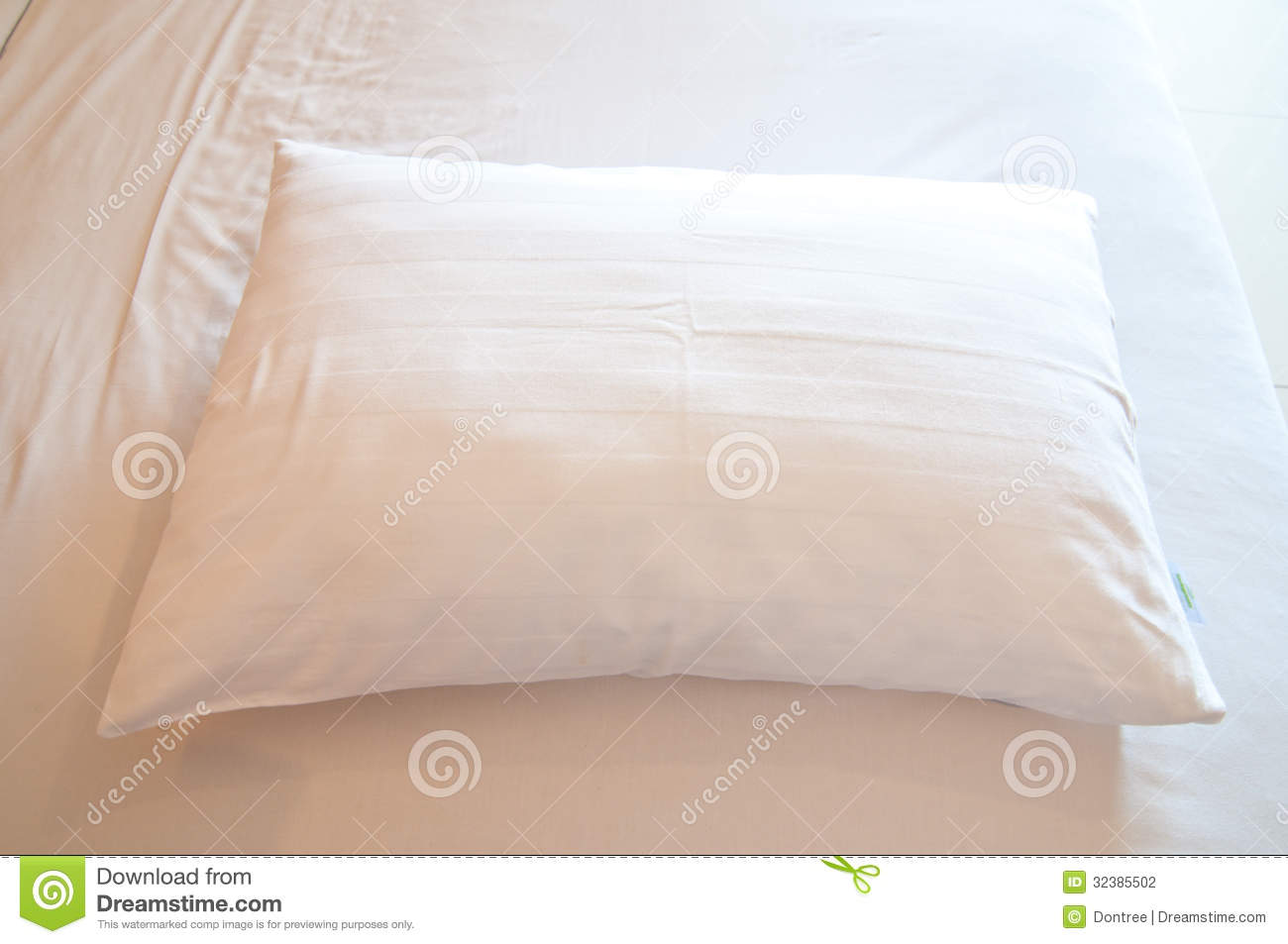 White Pillow On A Bed Stock Photography Image 32385502