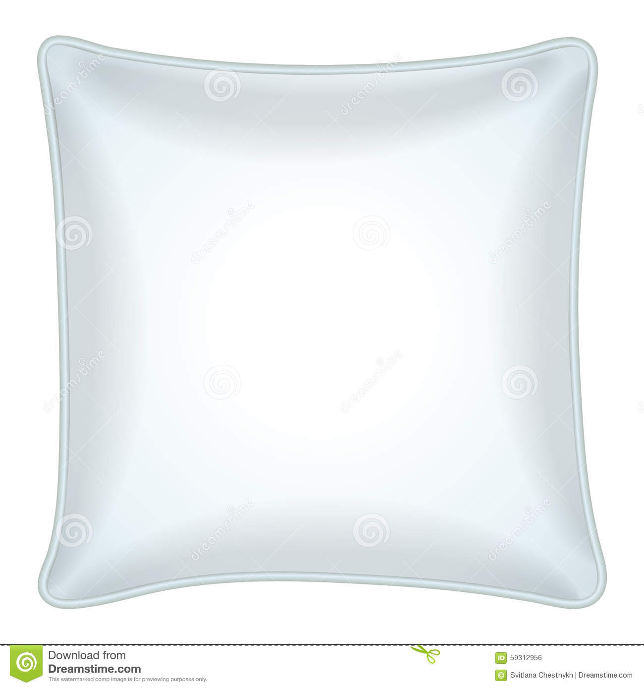 White Pillow, Top View Stock Vector - Image: 59312956