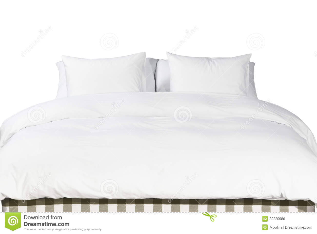 Pillows On Bed Stock Photography 86500544