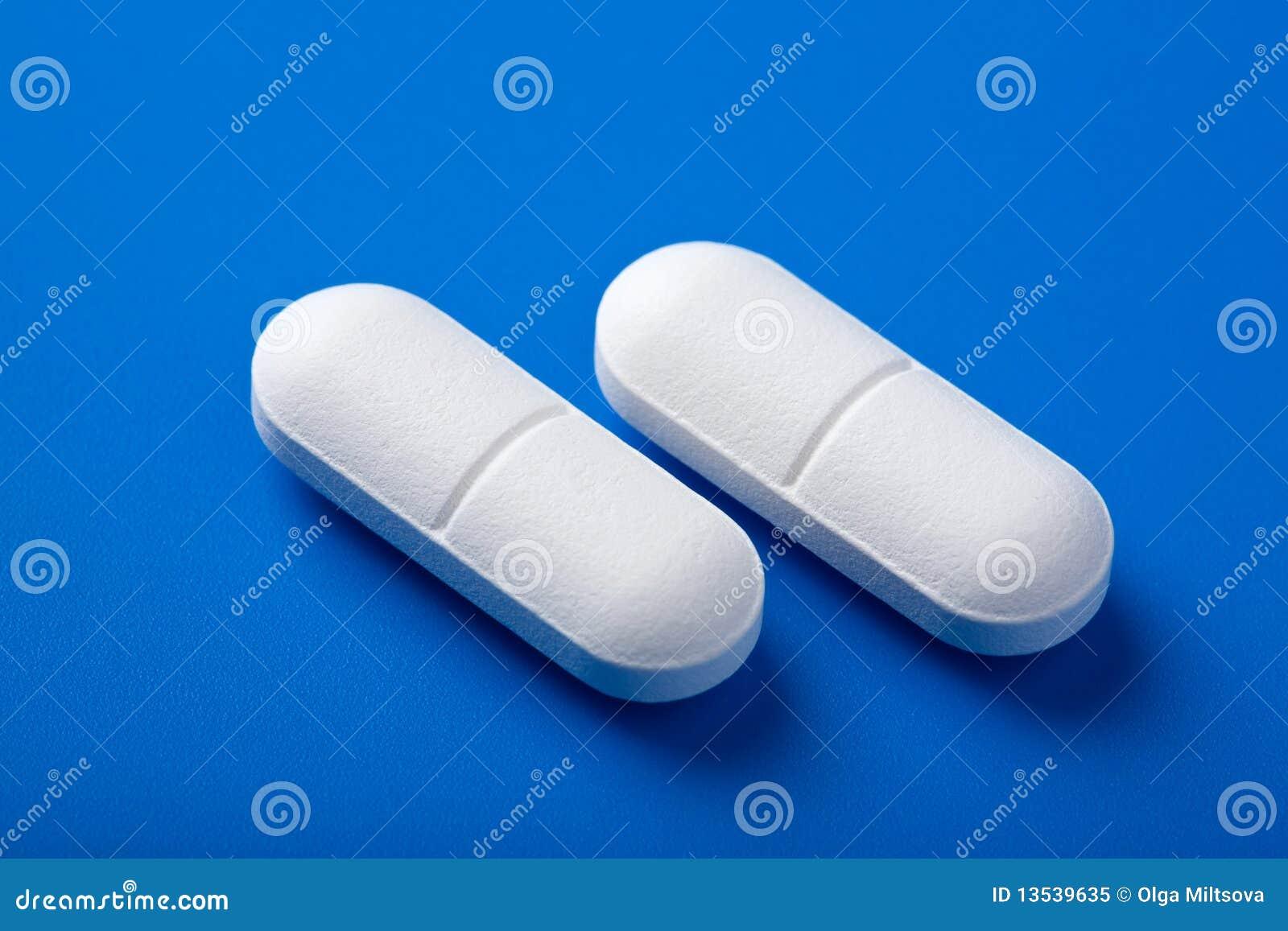 White Oblong Pill No Markings
