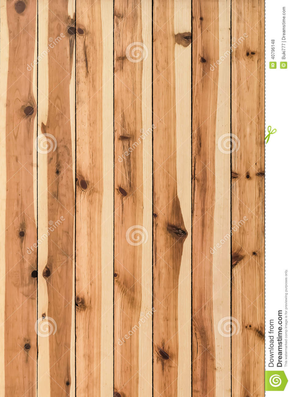 White Pine Knotted Planks Hut Wall Surface Detail Stock