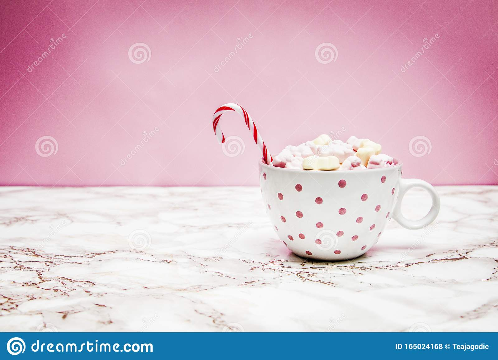 White Pink Christmas Mug With Marshmallows Sugar Cane On A Cozy Sweaters And Pink Background Editorial Stock Photo Image Of Interior Caffeine 165024168