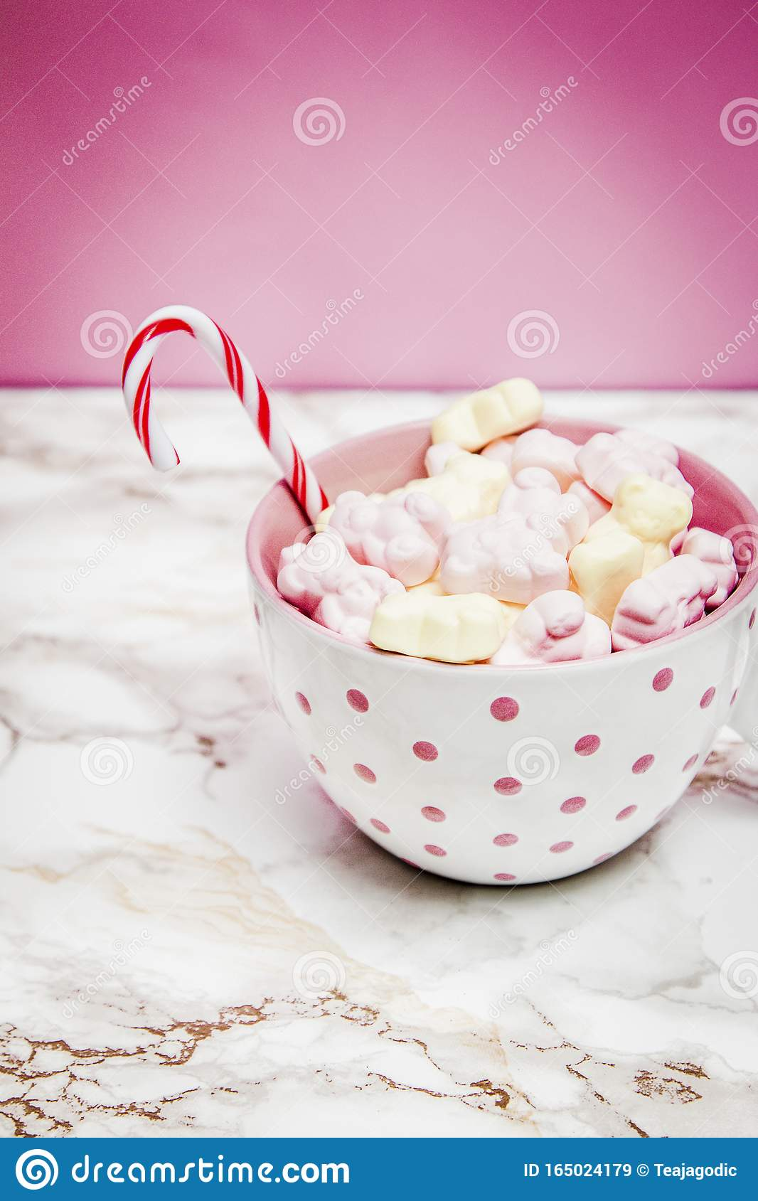 White Pink Christmas Mug With Marshmallows Sugar Cane On A Cozy Sweaters And Pink Background Editorial Stock Image Image Of Marble Cinnamon 165024179