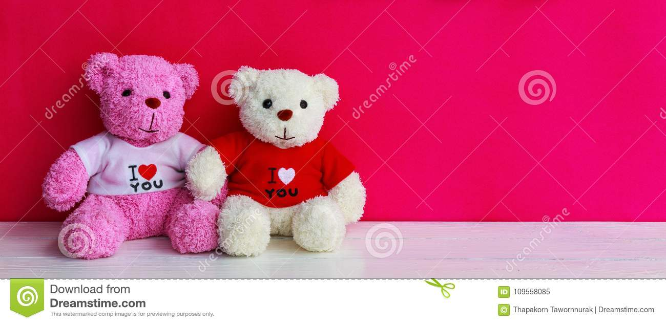 White and pink teddy bear
