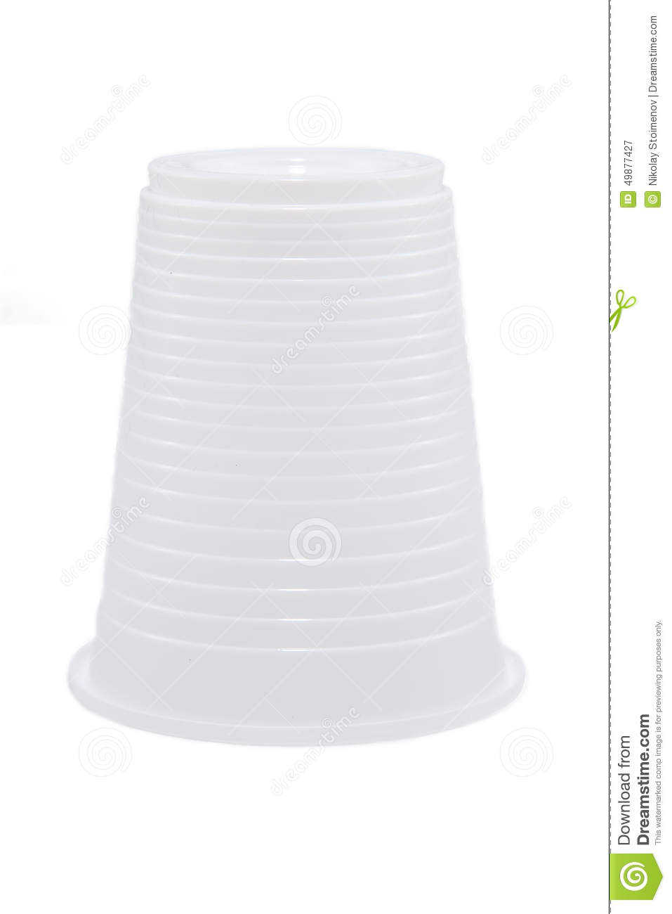 White plastic cup