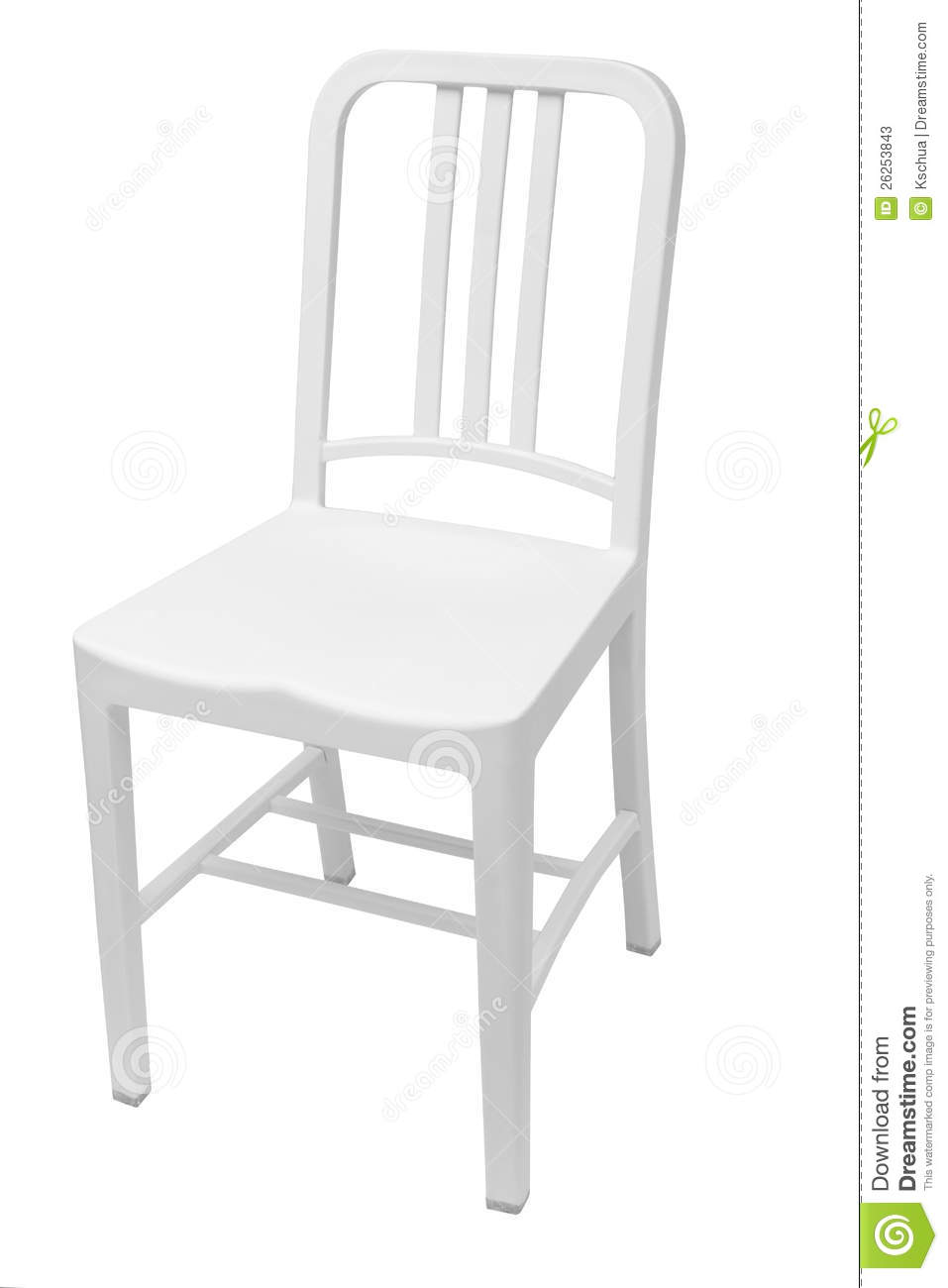 White plastic dining chair stock photos image 26253843 for White plastic dining chair