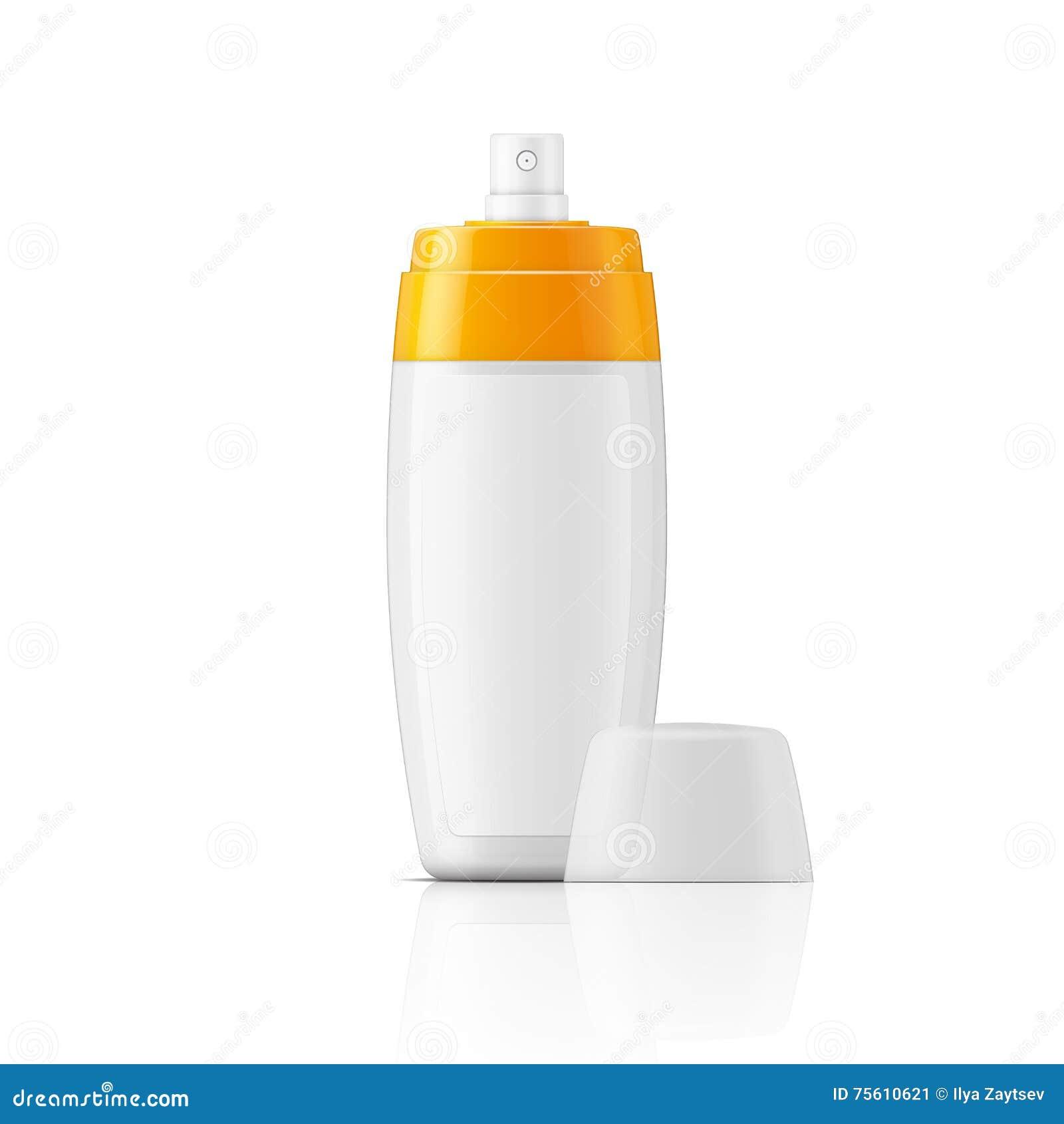 White Plastic Spray Bottle Template