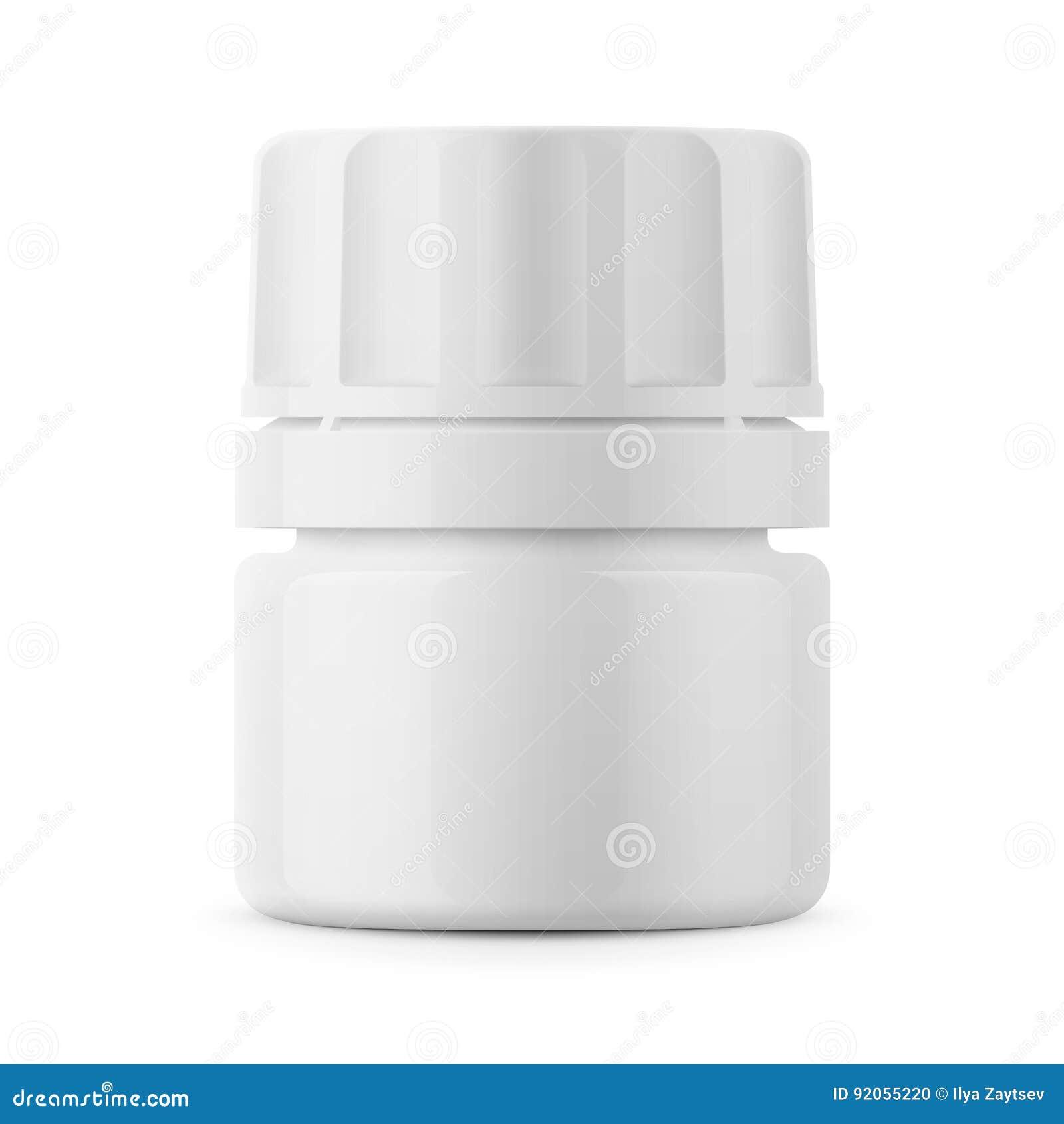 white plastic tablet bottle template stock vector illustration of