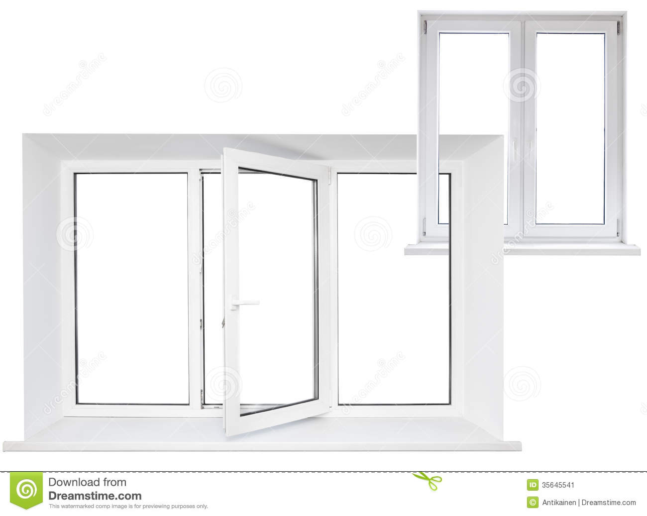 White plastic window royalty free stock photo for Window plastic