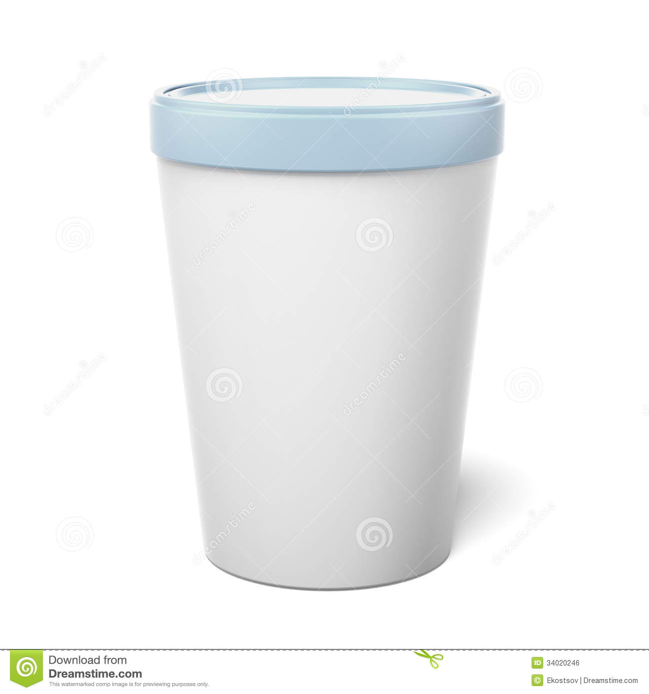 White Plastic Tub Bucket Container Royalty Free Stock