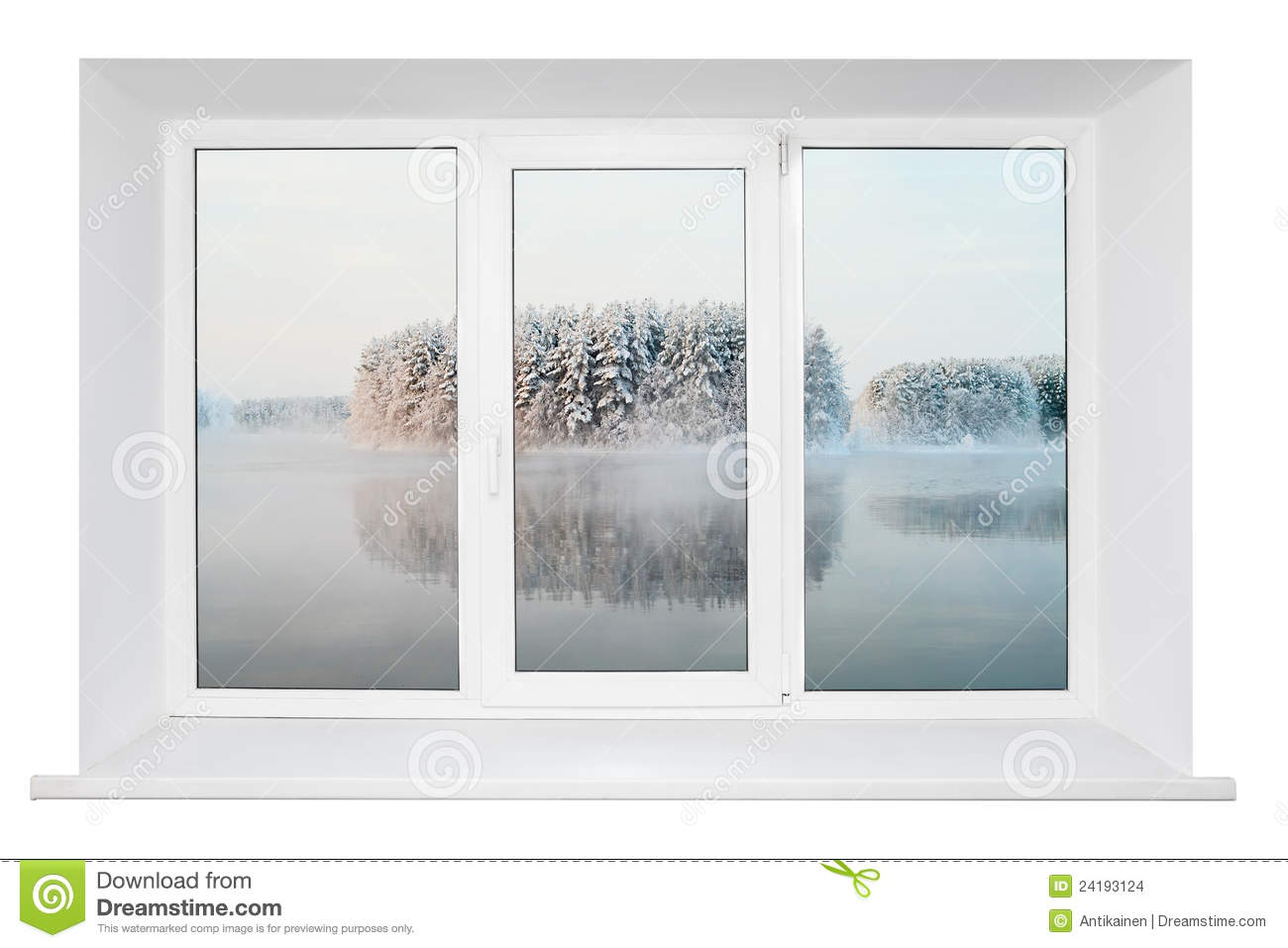 White window frame - White Plastic Window Frame