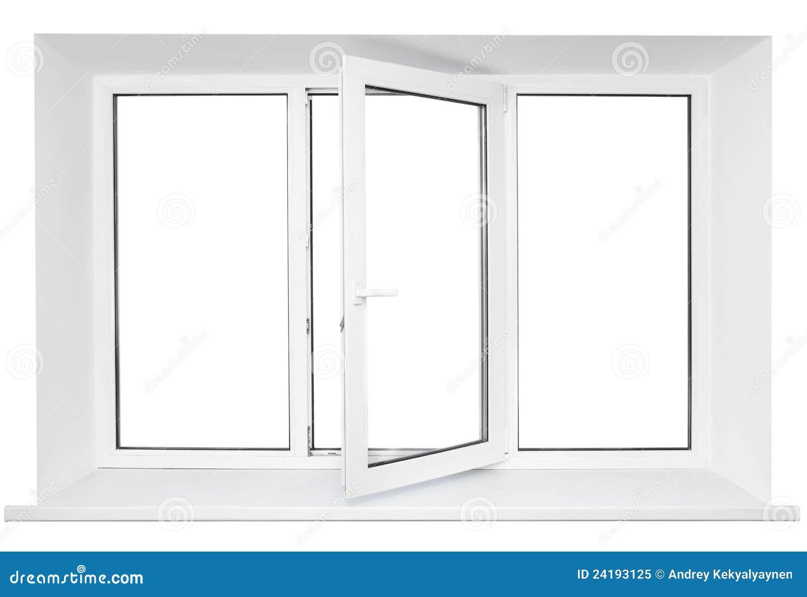 White Plastic Window Frame Stock Image Of Inside