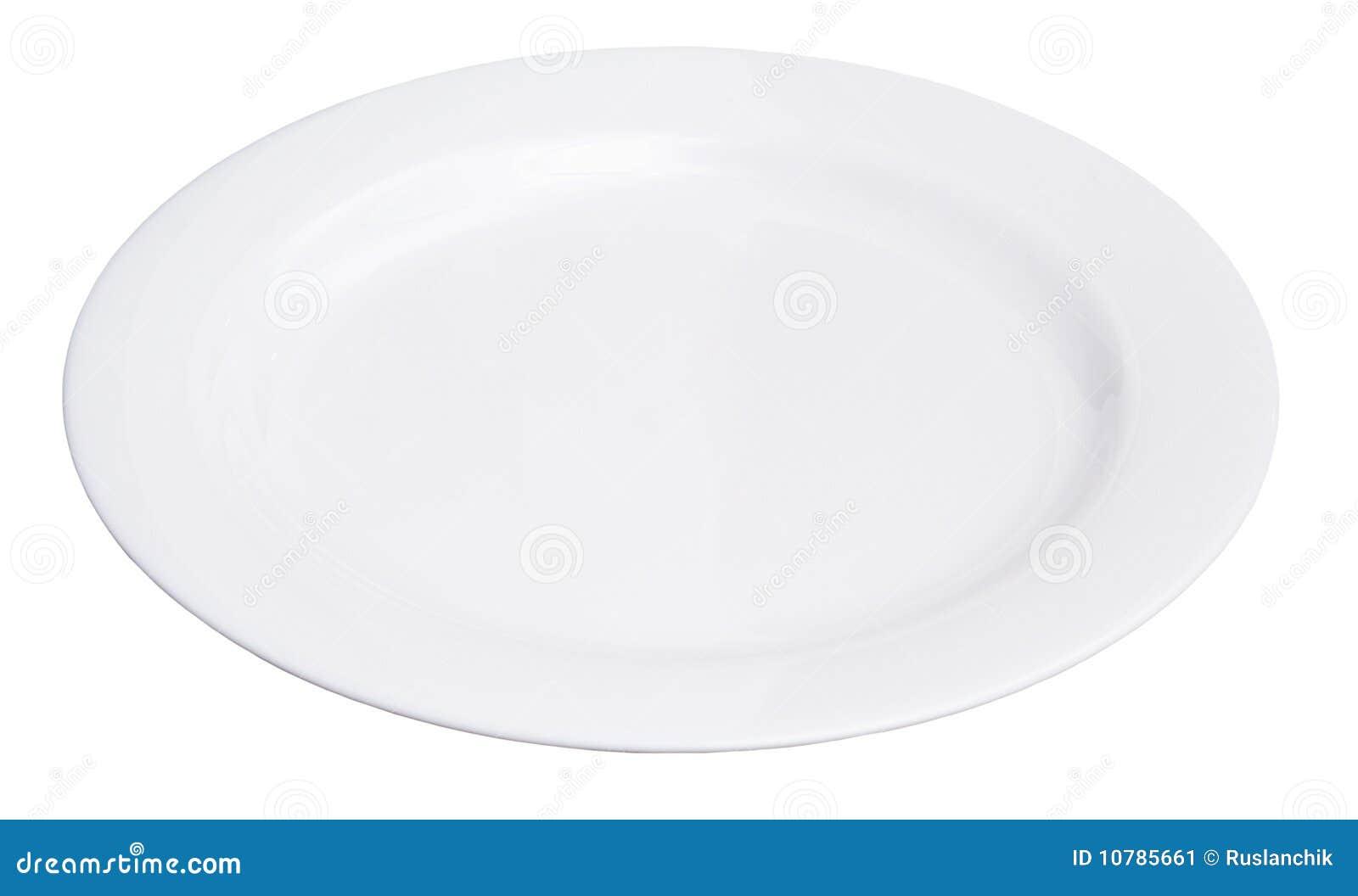 White Plate Stock Image Image 10785661