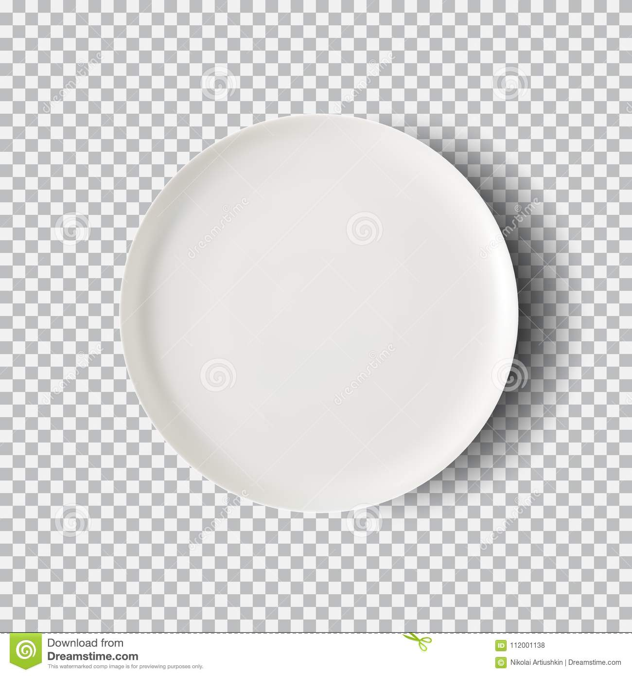 White Plate On Transparent Background Stock Vector - Illustration of ...