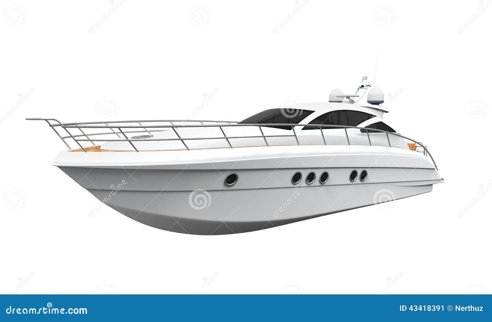 White Pleasure Yacht Stock Illustration - Image: 43418391