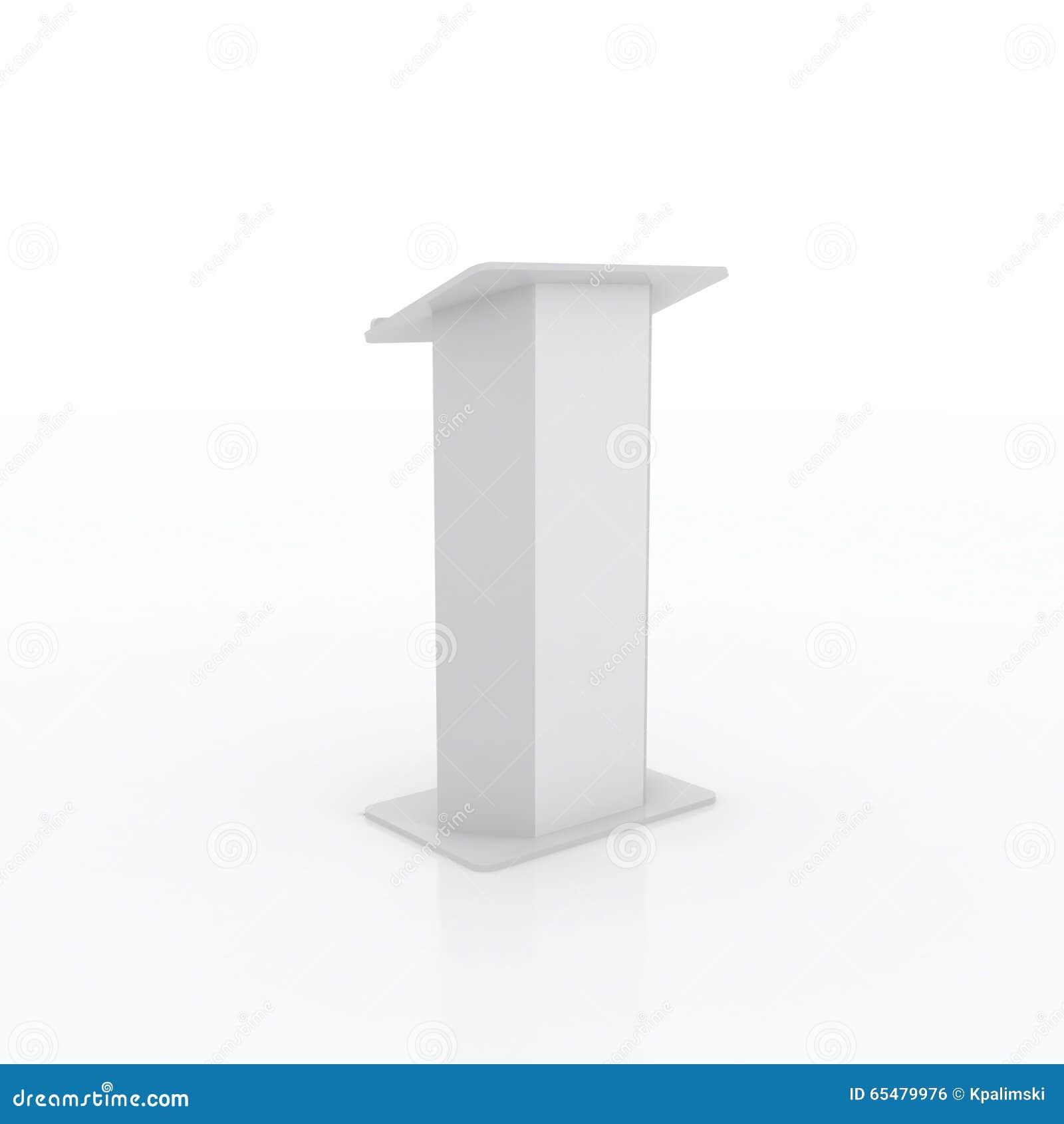 White Studio Background With Podium: White Podium Stock Illustration