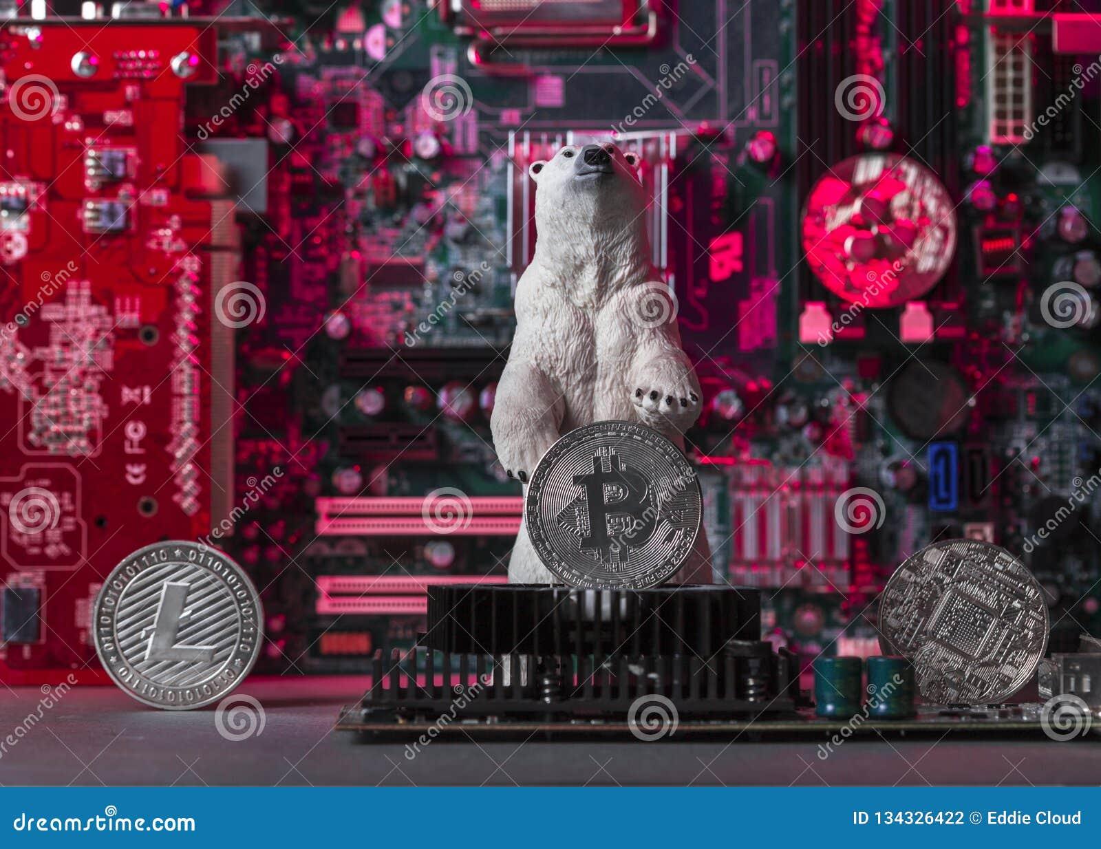 Concept Of Bear Crypto Market Stock Photo - Image of fall ...
