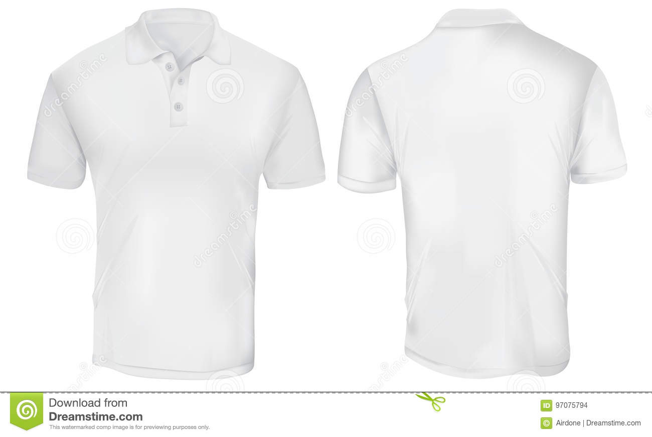 Polo stock illustrations 4 141 polo stock illustrations for White t shirt template front and back