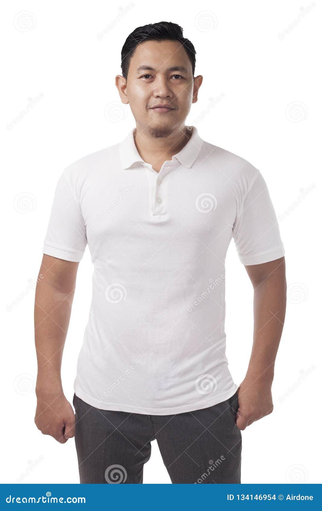 Polo Shirt Template Mock Up Stock Photo Image Of Sleeve