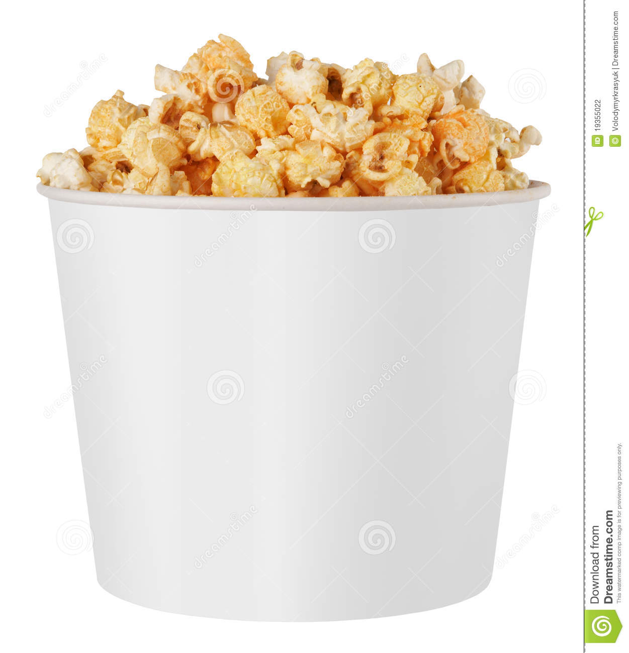 White Popcorn Box Stock Photography - Image: 19355022