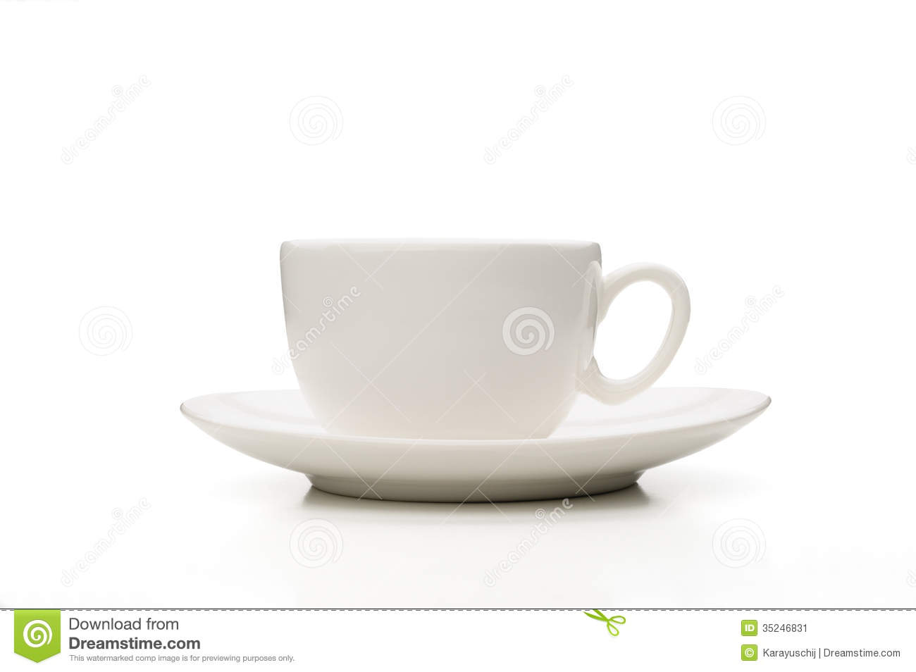 White Porcelain Coffee Cup Stock Image Image 35246831