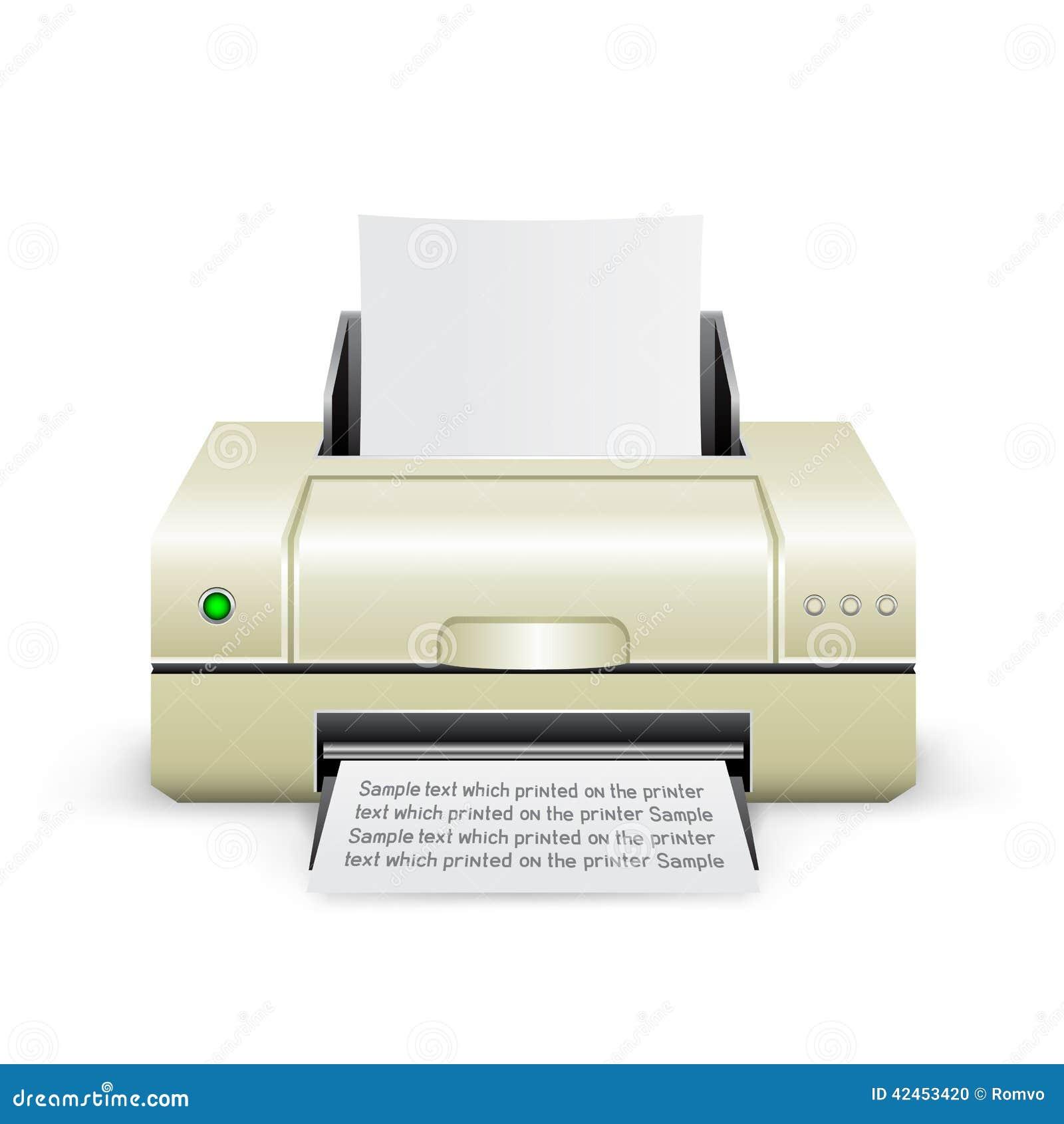 White printer icon stock vector. Illustration of hardware ...