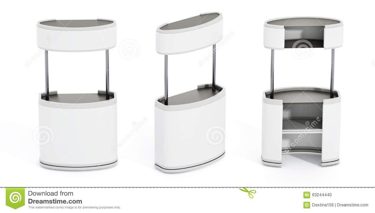 Exhibition Stall Vector Free Download : White promotion stands stock illustration of