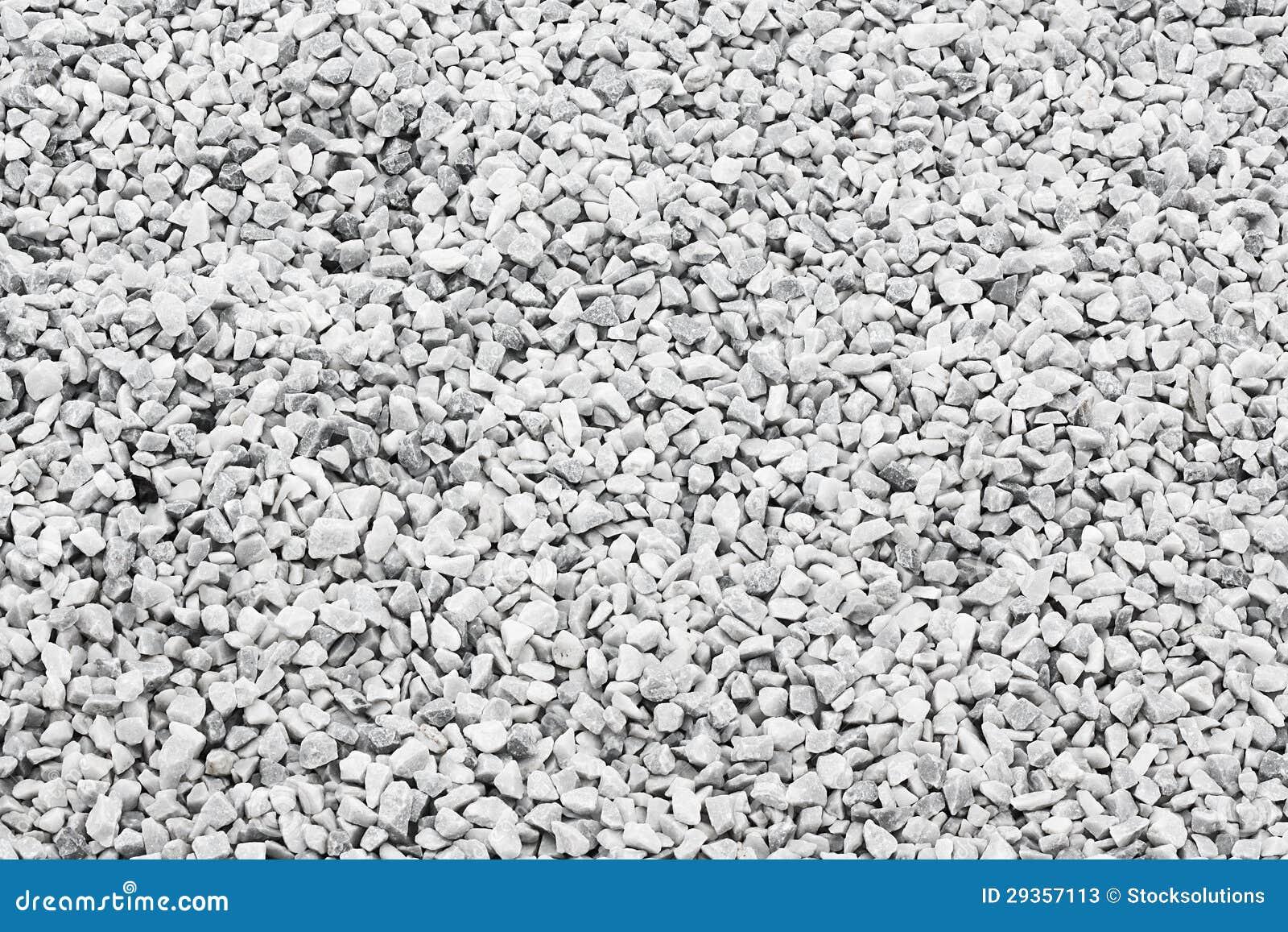 White quartz stone decorative chippings or aggregates