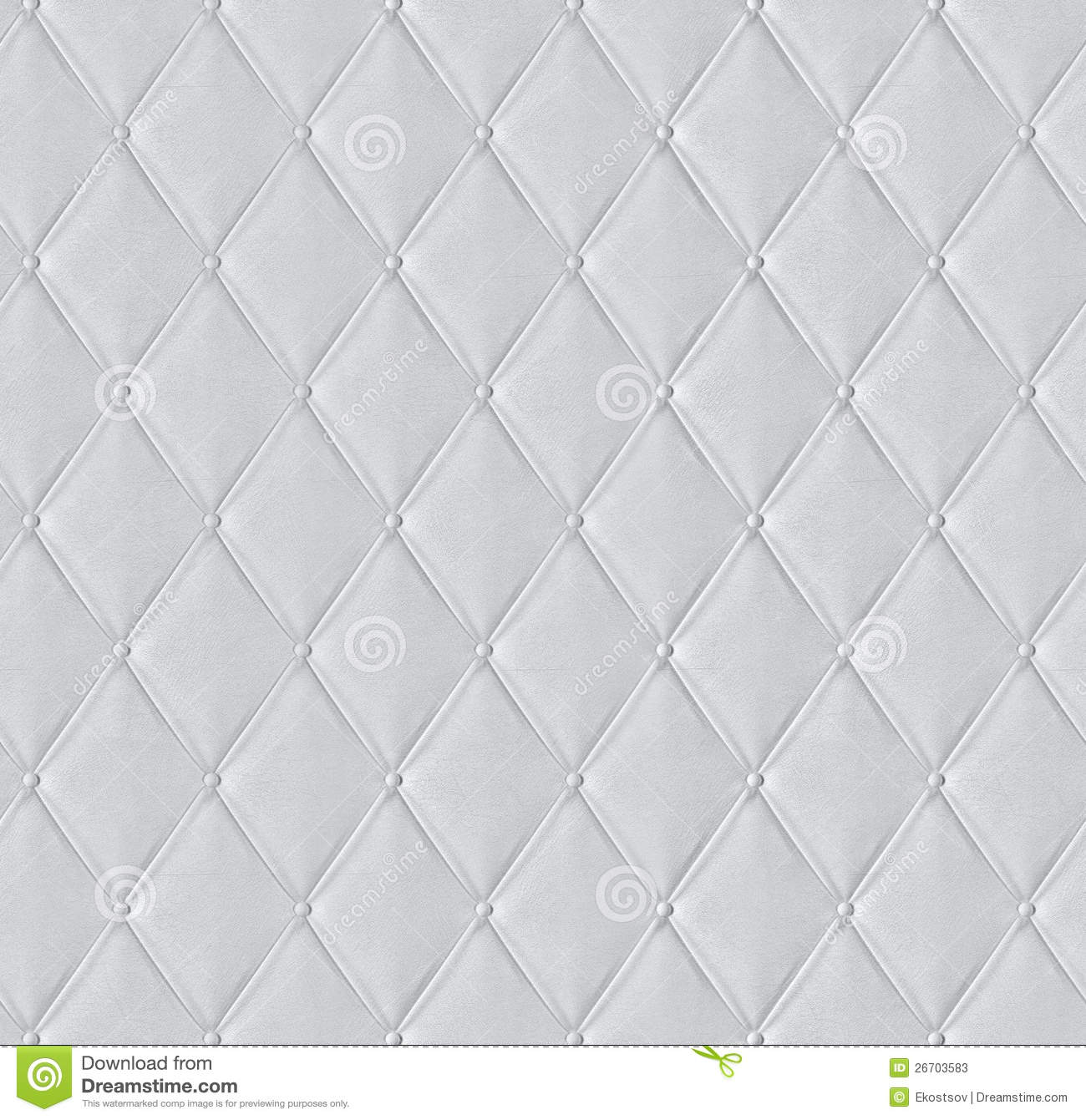 White Quilted Leather Tiled Texture Stock Photo 26703583 - Megapixl : leather quilt - Adamdwight.com