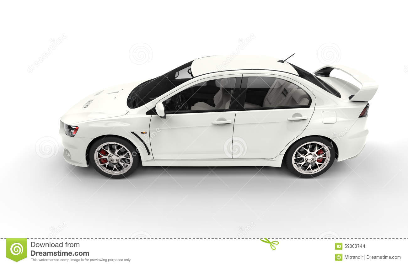 white race car top side view stock photo image of