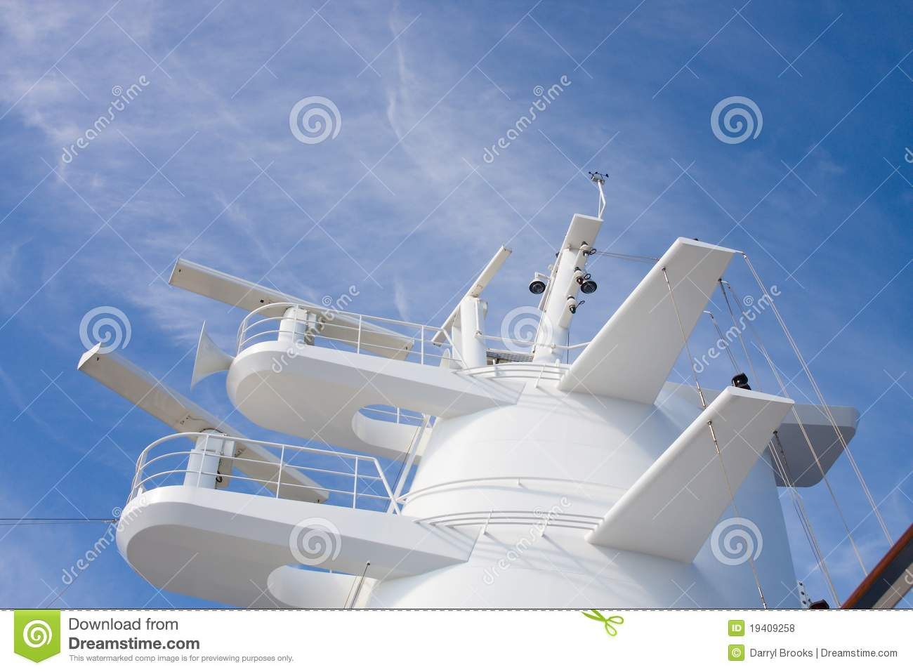 White Radar Tower On A Cruise Ship Stock Photo Image Of Sonar - Cruise ship trackers