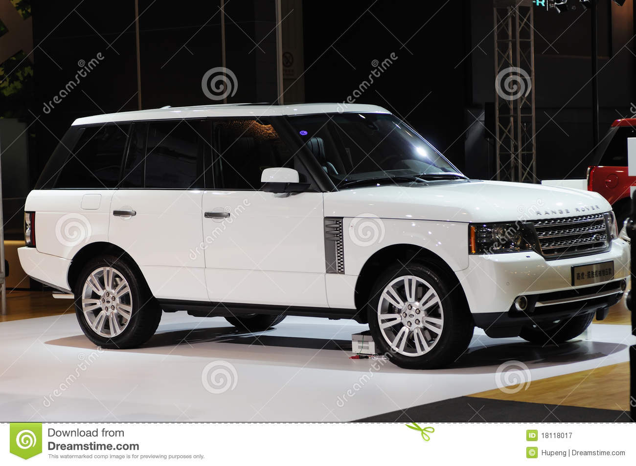 White Range Rover Suv Editorial Photography Image 18118017