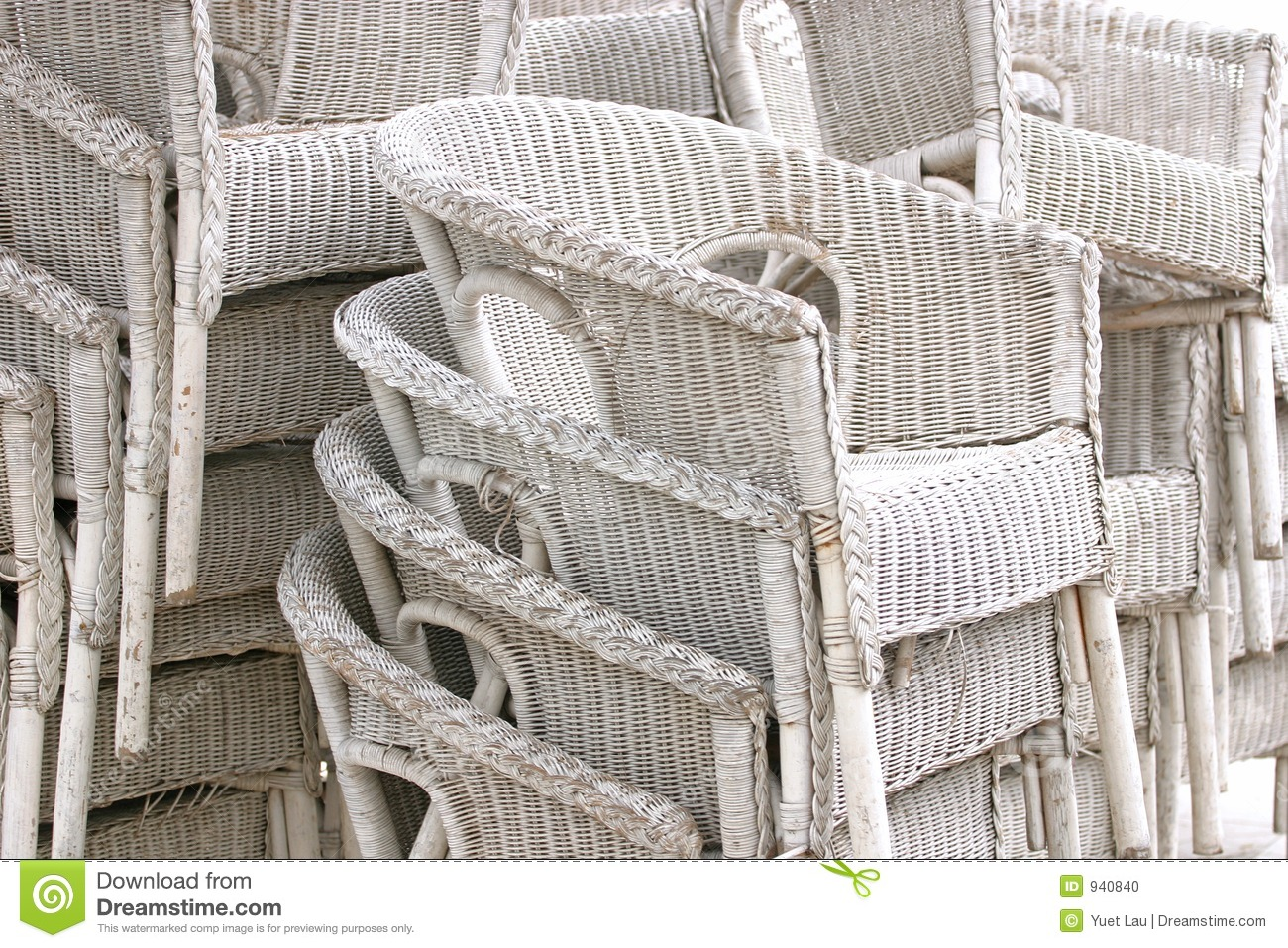 White Rattan Chairs Stock Photo - Image: 940840
